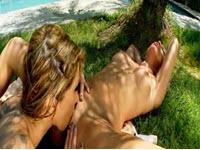 Outdoor lesbian sex